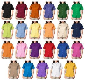 Blue Generation Ladies SS Cotton Twill Shirts