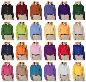 Blue Generation Ladies LS Cotton Twill Shirts