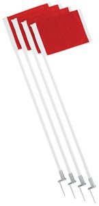 Champion Spring Loaded Steel Base Soccer Flag Set