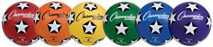 Champion Size 4 Rubber Cover Soccer Ball-Set of 6