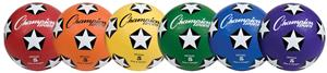 Champion Rubber Soccer Ball-Assorted Set of 6