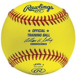 Rawlings Level 1 Training Yellow Baseballs ROTB1Y