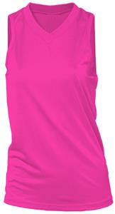 Adams Womens Girls Pink Softball Racer Jersey