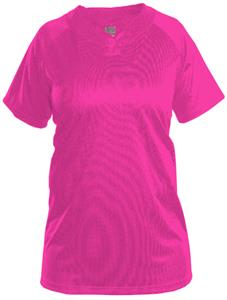 Adams Womens Girls One Button PINK Softball Jersey