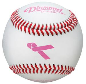 Diamond PINK Ribbon Theme Leather Baseballs