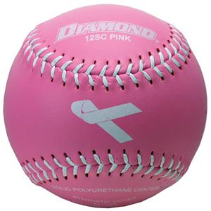 Diamond PINK Ribbon Theme Leather Softballs