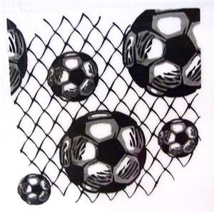 "Soccer 3"" square paper pad Note Cube"