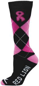 Cancer Awareness Black Ribbon Argyle Socks