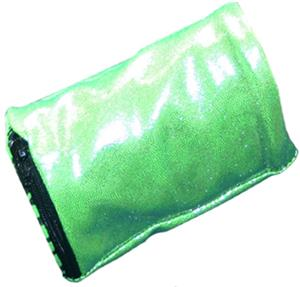 Svforza Wrist Wallet Neon Green Metallic Wristband