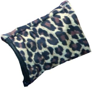 Womens Wrist Wallet Brown Leopard Wristband