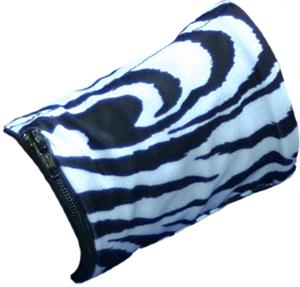 Womens Wrist Wallet Black/White Zebra Wristband