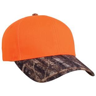 Pacific Headwear 680C Blaze Orange Camo Caps