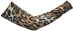 Svforza Women's Brown Cheetah Sleeve Warmer