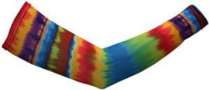 Svforza Women's Stripe Tie Dye Sleeve Warmer