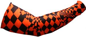 Svforza Men's Orange Racing Flag Sleeve Warmer