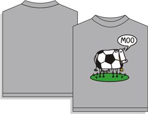 Utopia Soccer Moo Short Sleeve T-shirt