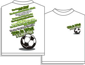 Utopia I Live For Soccer Short Sleeve T-shirt