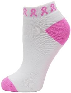 Red Lion Pinky White/Pink Ribbon Footie Sock