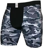 "Svforza B/W Camouflage 4"" or 7"" Compression Shorts"