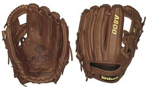 "Wilson A800 Leather Infield 11.5"" Baseball Gloves"