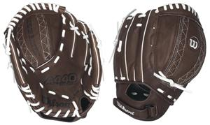 A440 Leather All Positions 10&quot; Fastpitch Gloves