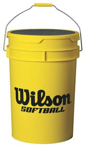 Wilson Yellow Softball Ball Bucket