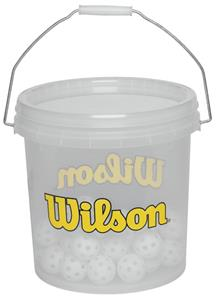 "Wilson 5"" Wiffle Balls in 3 gallon bucket"