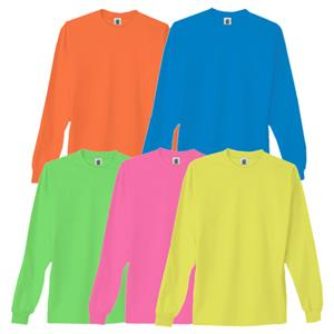 Adult Neon Long Sleeve Tees - Soccer Equipment and Gear