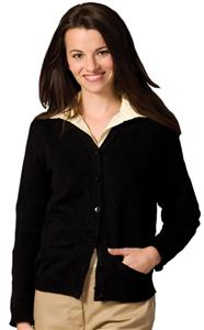 Edwards Womens V-Neck Cardigan with Two Pockets