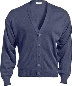 Edwards Unisex V-Neck Cardigan with No Pockets