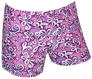 Spandex 6&quot; Sports Shorts - Floral Print