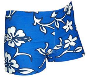 Spandex 6&quot; Sports Shorts - Hibiscus Print