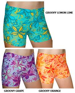 "Spandex 6"" Sports Shorts - Groovy Print"