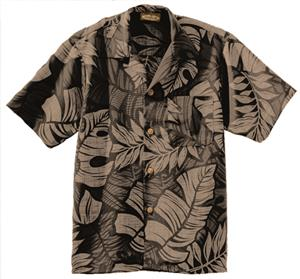 Edwards Unisex South Seas Leaf Print Camp Shirt