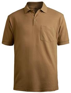 Edwards Unisex Short Sleeve Blended Pique Polo