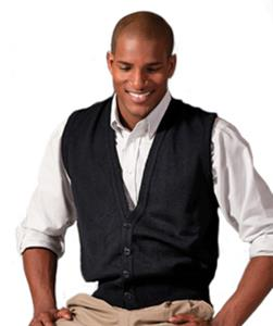 Edwards Unisex Button Vest