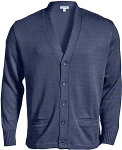 Edwards Unisex Button V-Neck Cardigan w/2 Pockets