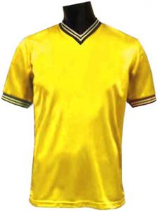 Pre-Numbered - GOLD Soccer Jerseys W/WHITE #s