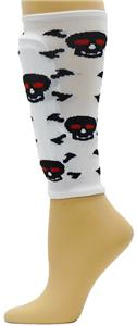 Red Lion Skull/Crossbone Soccer Shin Guard Sleeves