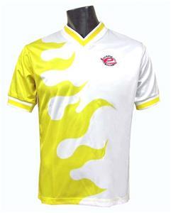 Pre-#ed Crossfire Soccer Jerseys YELLOW W/BK #s