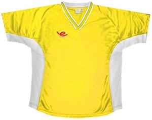 Pre-Numbered YELLOW Soccer Jerseys w/BLACK #s