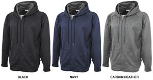 Pennant Mens Performance Fleece Full Zip Hoodies