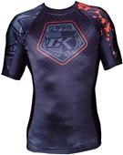 Contract Killer Adult Stained Black Rashguard S/S