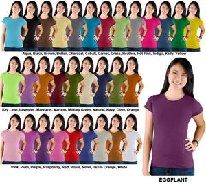 LAT Sportswear Ladies Jr Longer Length T-Shirts