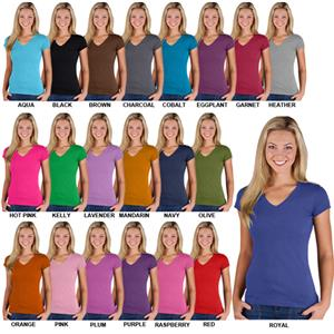 LAT Sportswear Ladies Jr V-Neck T-Shirt