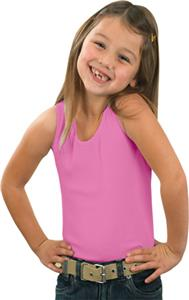 LAT Sportswear Girls 2x1 Rib Tank