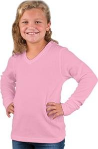 LAT Sportswear Girls Thermal V-Neck Hoodies
