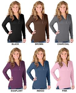 LAT Sportswear Jr Long Sleeve Thermal Henley