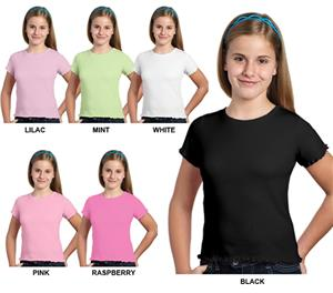 LAT Sportswear Girls Baby Rib Tiny Tees