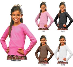 LAT Sportswear Girls Baby Rib Long Sleeve Tiny Tee